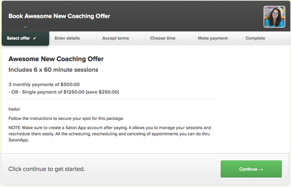 Select the offer