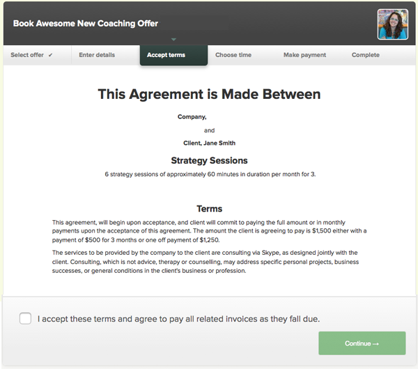 Step 3 - Accept terms